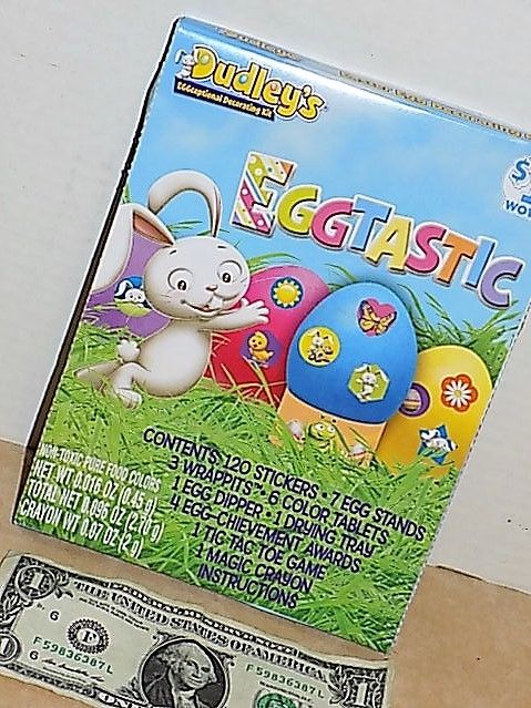 DECORATING KIT* 144pc Easter Egg Hunt EGGTastic Non-Toxic Food Colors DUDLEY'S