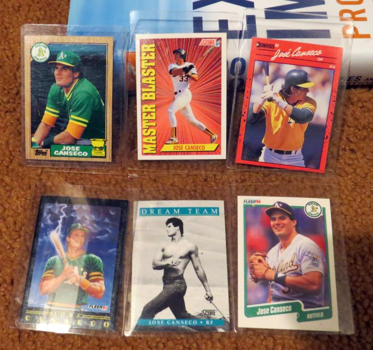 Jose Canseco Card Lot 1987 1990 1991 Fleer Score Dream Team Topps Donrus