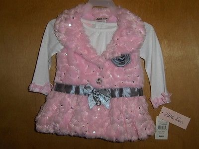 Infant Girls Pink Faux Fur Top     Size 12 Months