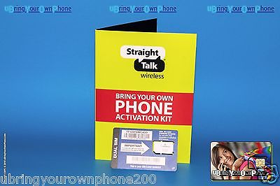 STRAIGHT TALK - iPhone 4 4s SIM Card for AT&T Compatible and Unlocked Phones
