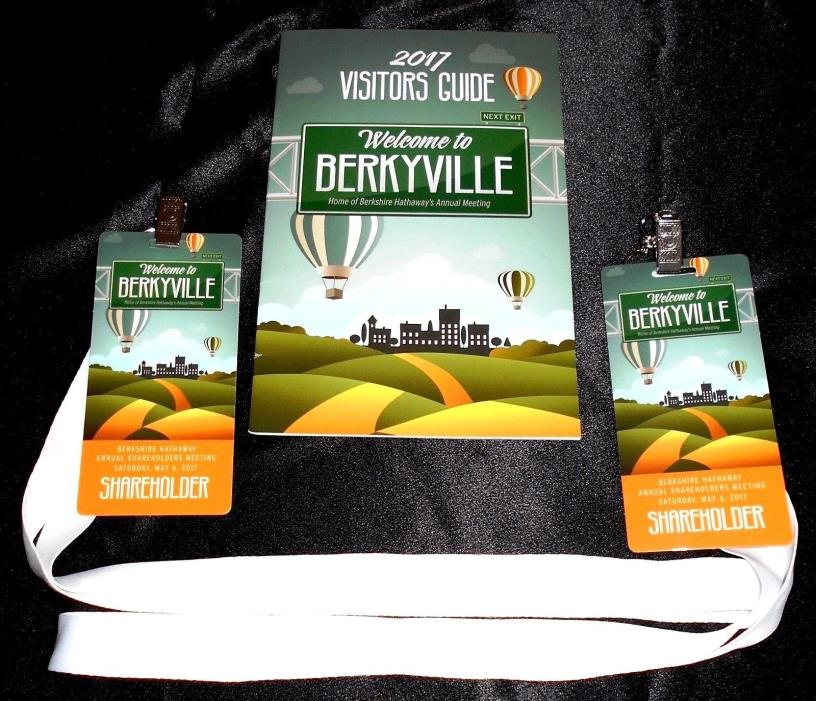 2 X 2017 Berkshire Hathaway Annual Meeting Credentials & Visitors Guide FreeShip