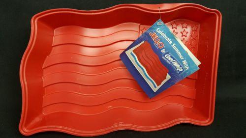 Jell-O/CoolWhip Waving American Flag Mold gelatin candy chocolate mold
