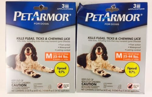 Lot Of 2 Packs! Sealed!  PetArmor for Medium Dogs 23-44 lbs Total 6 Months!