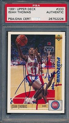 1991/92 Upper Deck #333 Isiah Thomas PSA/DNA Certified Authentic Auto *2226