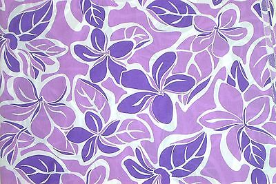 Hawaiian Quilting Fabric Shades of Lavender Florals