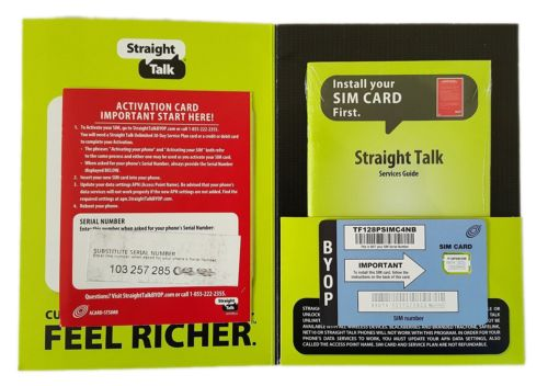 Straight Talk AT&T Compatible Nano SIM Card Bring Your Own Phone Activation Kit