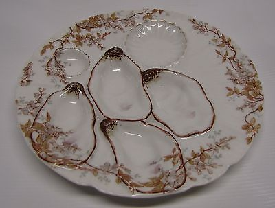 Haviland & Co, Limoges 4 Well Oyster Plate, H&Co. L