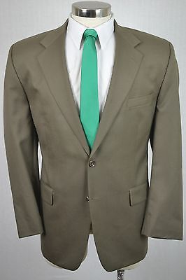 (44R) Chaps Ralph Lauren Men's Brown Classic Wool Blazer Sport Coat Jacket