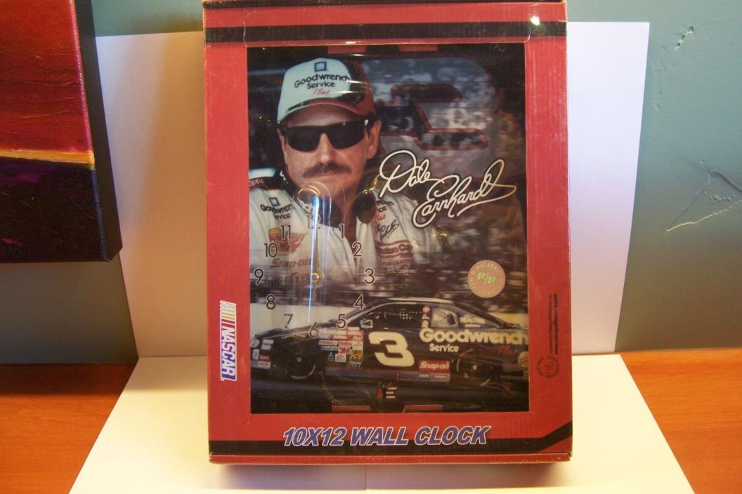 #3 Dale Earnhardt  NASCAR Wall Clock Wood Plaque Racing Reflections NEW In Box
