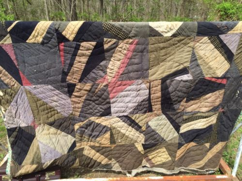Primitive Wool Quilt Early