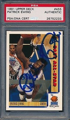 1991/92 Upper Deck #455 Patrick Ewing PSA/DNA Certified Authentic Auto *2233