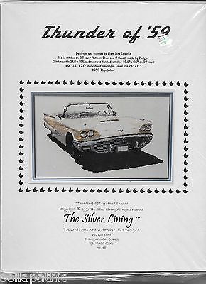 Thunder of '59 Thunderbird Marc Saastad Silver Lining Cross Stitch Pattern