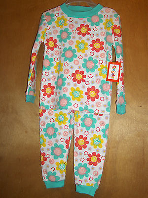 Infant Girls Bright Flower Pajama Set    Size 24 Months