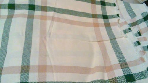 Hunter green / tan windowpane CHARLES CRAFT aida 14ct fabric (108