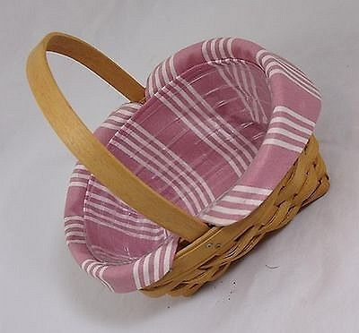 Longaberger 1999 Horizon of Hope Basket Combo - Dusty Rose Liner