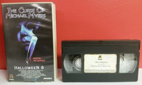 Halloween 6 Curse of Michael Myers VHS Movie Arcade Miramax Release Netherlands