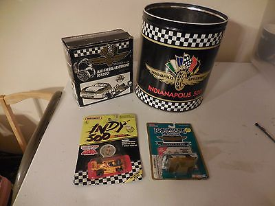 Lot of vintage indy 500 & brickyard 400 memobrilia
