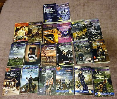 Love Inspired Supense - Lot of 20 books, Texas K-9, Military, Border Patrol, etc