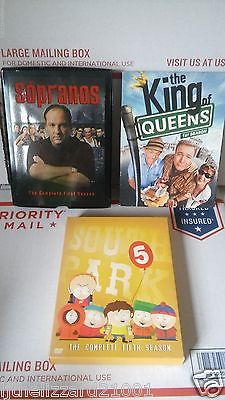LOT OF 3 SEASONS DVD TV SERIES SOPRANOS 1ST SOUTH PARK 5TH KING OF QUEENS 1ST