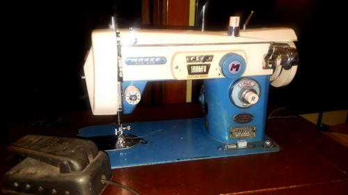 Vintage Morse Blue 4100 Fotomatic Automatic Zig Zag  Sewing Machine w/ Pedal