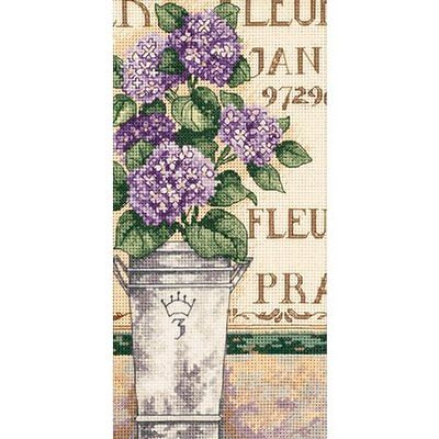 Dimensions 65092 Gold Petite Hydrangea Floral Counted Cross Stitch Kit