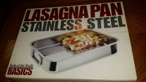 Brand New Tools of the Trade Basics Lasagna Pan Stainless Steel