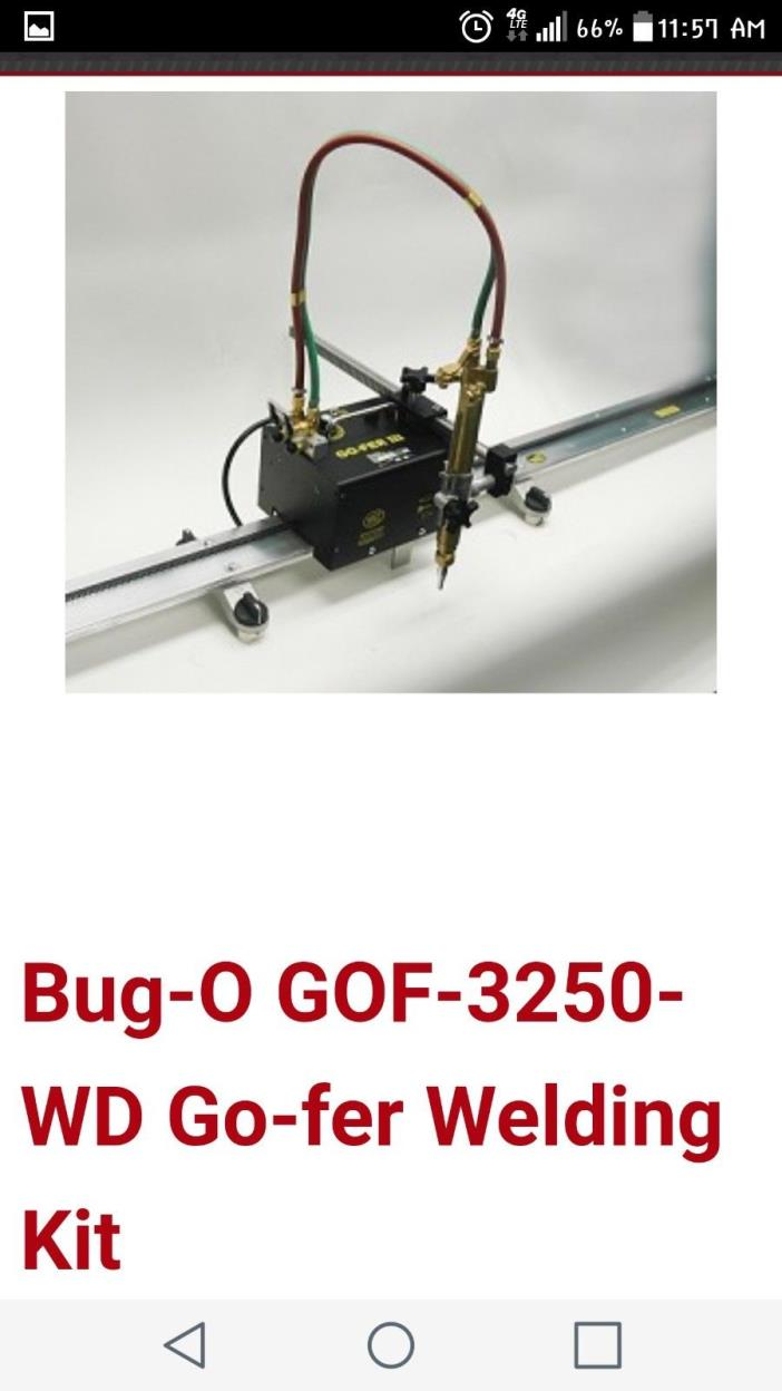 Bug-O Go Fer 3 track welder and cutter