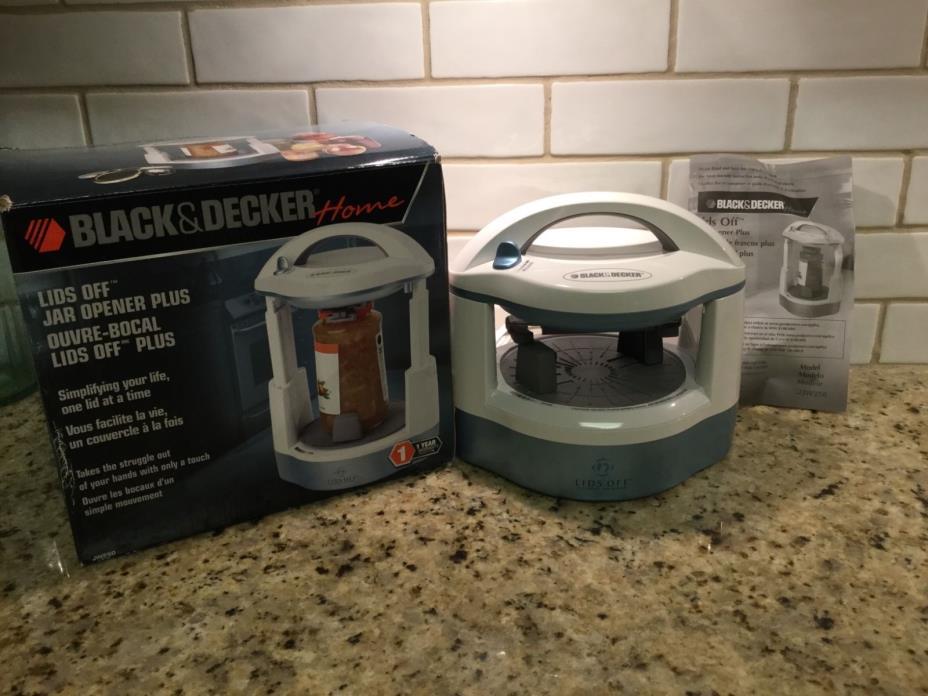 NEW Black & Decker Lids Off Automatic Jar Opener JW250 White electric adjustable