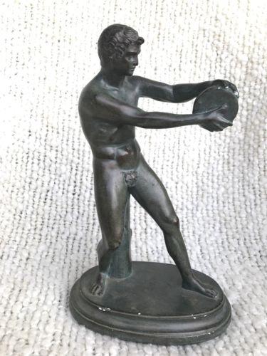 ABCD USA Alexander Backer Greek Discus Thrower Chalkware  Statue