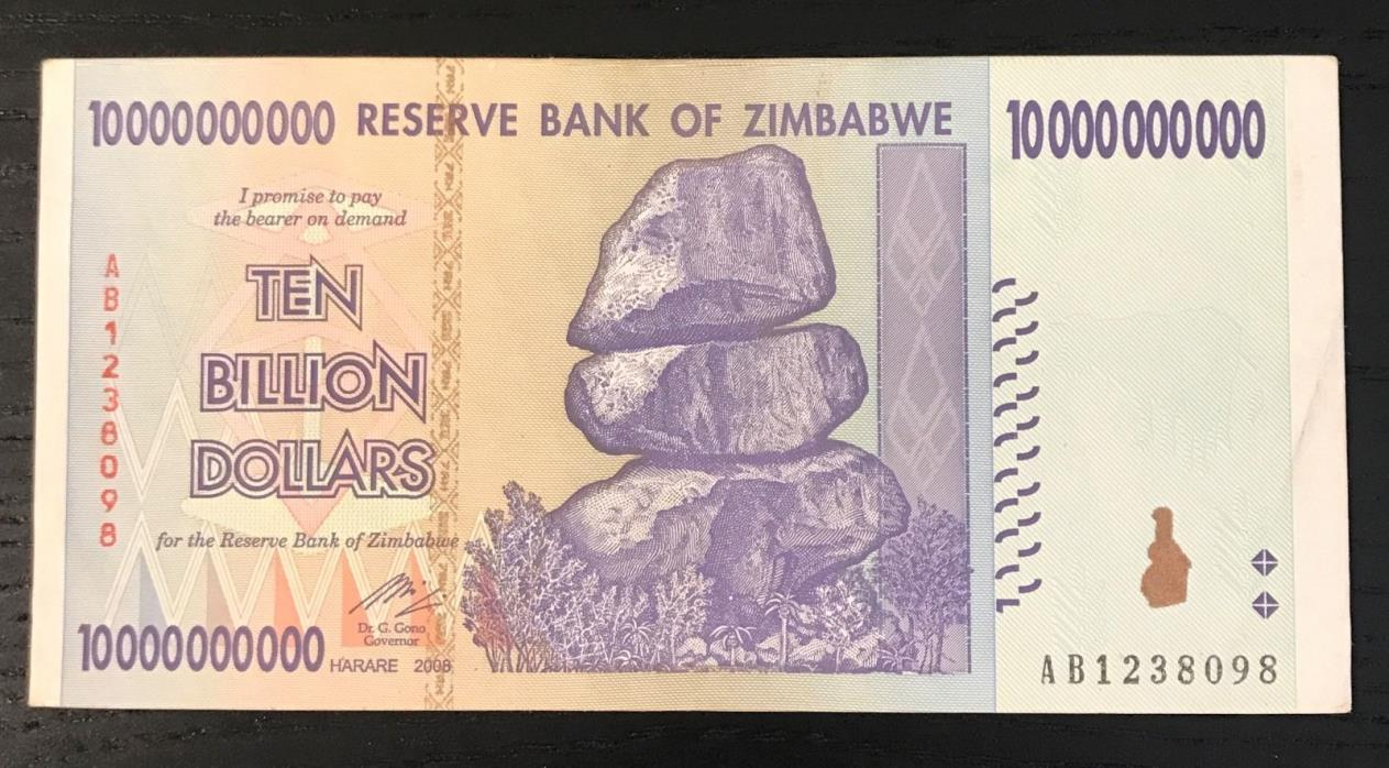 Zimbabwe 100 Trillion Dollar Bill Value New Kids On The