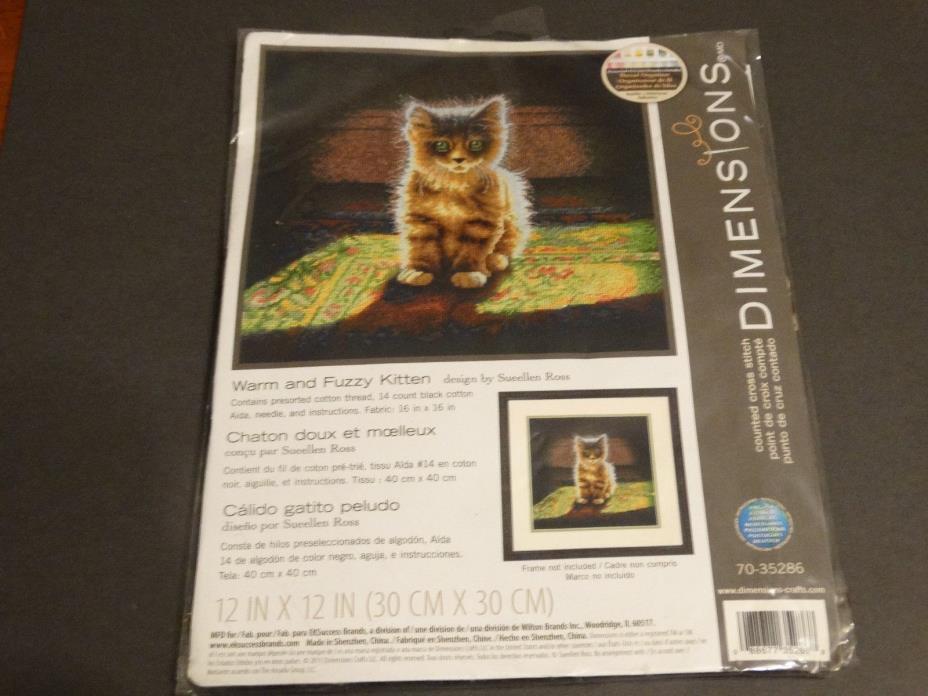 Dimensions - Warm and Fuzzy Kitten - Cross Stitch Kit NEW