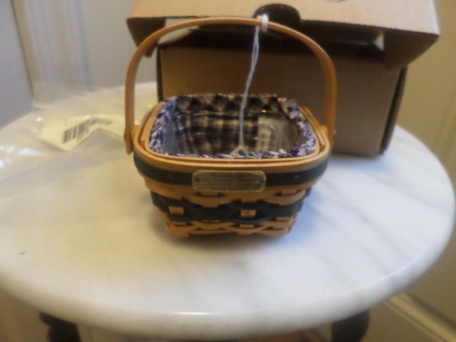LONGABERGER COLLECTOR CLUB MINIATURE JW BERRY BASKET COMBO