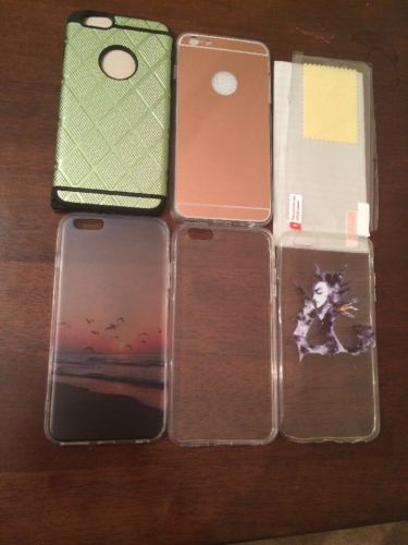 Lot of 5 cases for iPhone 6 plus with tempered glass and screen protector
