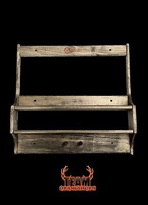 NEW Team Orangehorn Wood Cross Bow Rack Kit with Shelf Mounts/Hangs on the Wall