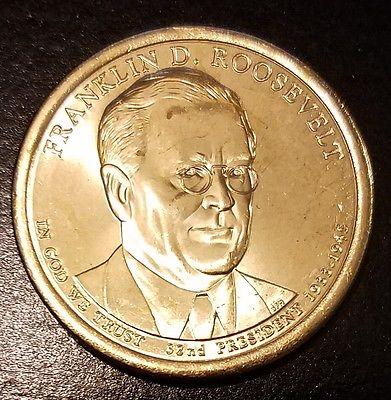 2014-D $1 Franklin D Roosevelt Presidential (Golden) Dollar From Mint Bag (7010)