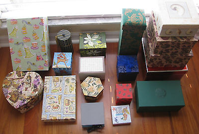 Lot of 18 Assorted Decorative Gift and nesting boxes