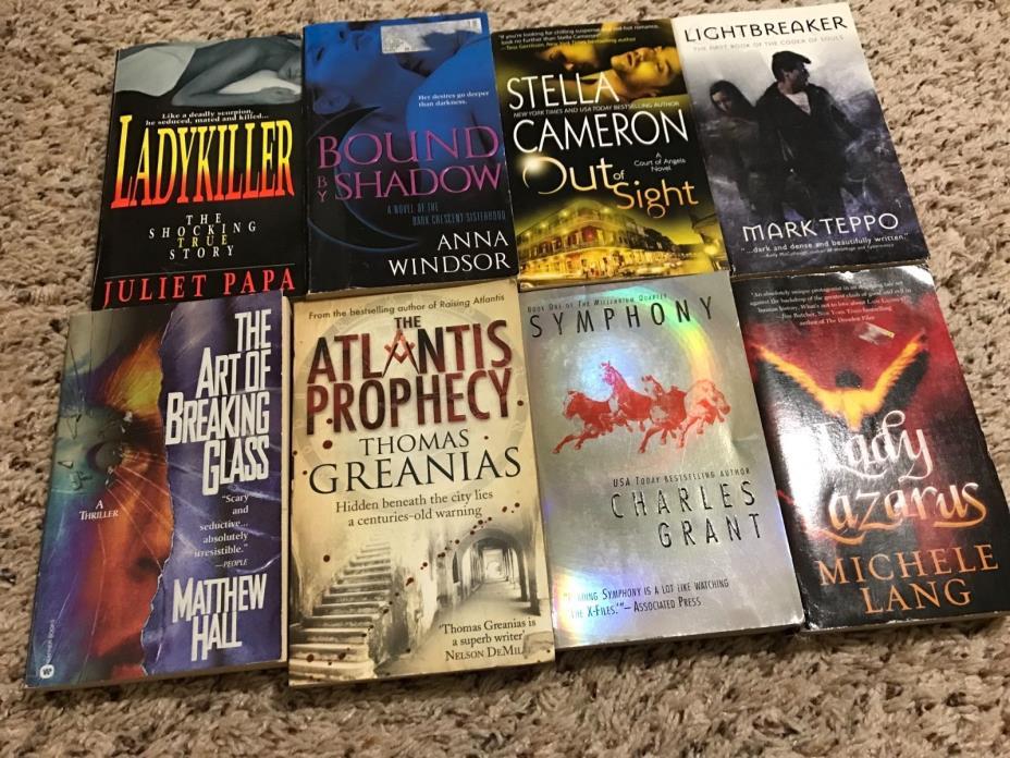 Action Thriller Novels - Lot of 8 Paperback Novels