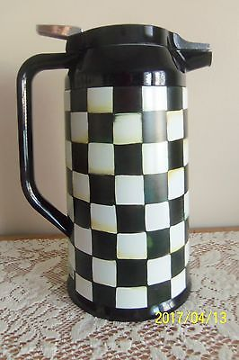 NEW MACKENZIE-CHILDS COURTLY CHECK COFFEE CARAFE