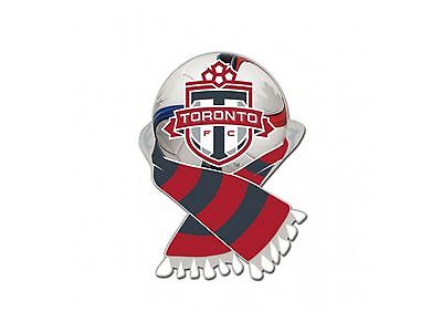 Toronto FC MLS WinCraft Red & Gray Soccer Scarf Metal Lapel Pin