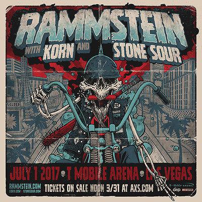 RAMMSTEIN, KORN, STONESOUR! T-Mobile Arena Las Vegas 07/01/2017 GA Floor Tickets