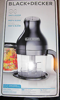 BLACK+DECKER PS2000BD Prep & Blend Multi-Chopper, Black Brand New Retail Sealed!