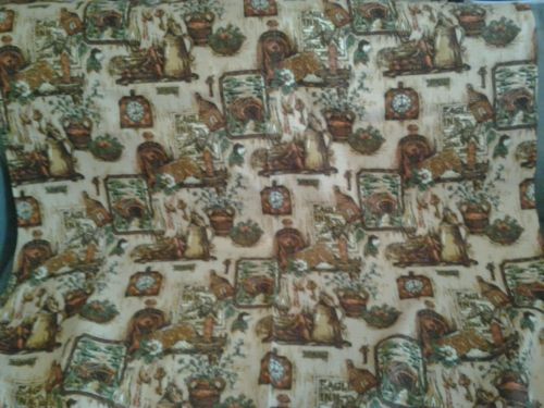 Vintage  1960's  Drapery  Kitchen  Fabric  5 and 1/2 Yards  , 44