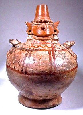 Pre-Columbian DEITY BOTTLE SICÁN LAMBAYEQUE PERU