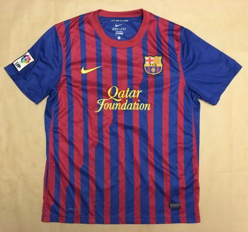 FC Barcelona Men's 2011-12 Lionel Messi Nike Dri-Fit Soccer Football Jersey Lg