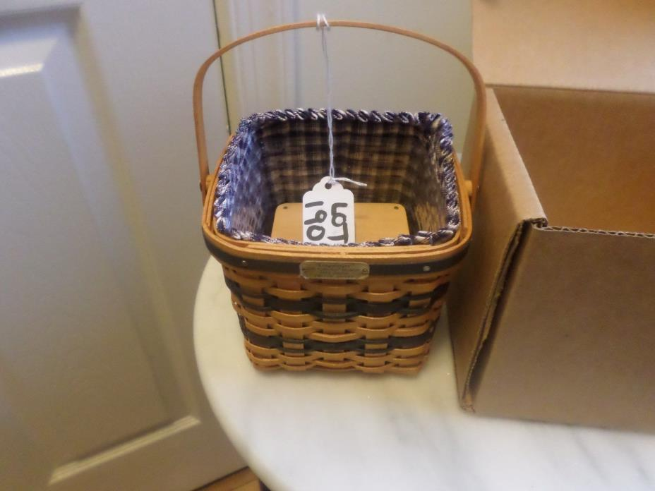LONGABERGER COLLECTOR CLUB MINIATURE JW TWO PIE BASKET COMBO
