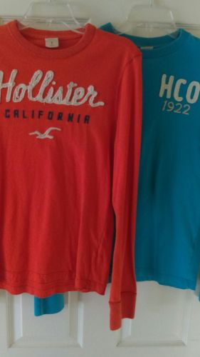 2 mens hollister long sleeve shirts size small