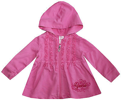 Guess Girls Pink Hoodie Sweatshirt Size 12 Months Mint Condition