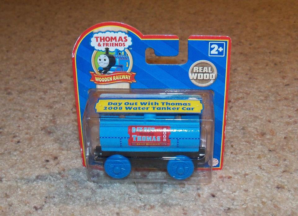 New In Box NIB Thomas Train Wood, Wooden Car Day Out With Thomas Tanker 2008