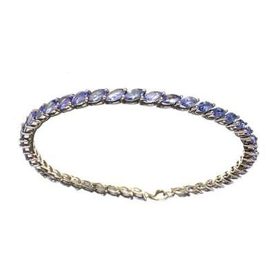 APP: 4.9k Fine Jewelry 6.61CT Marquise Cut Tanzanite Bracelet