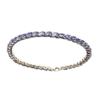 APP: 4.9k Fine Jewelry 6.61CT Marquise Cut Tanzanite Bracelet